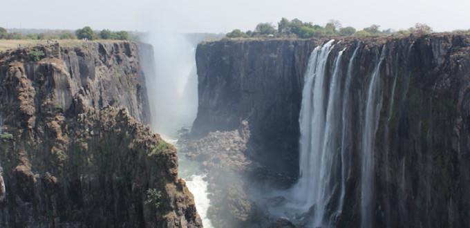 Victoriafälle auf der Sambia-Seite