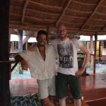Antonio aus Italien und ich. Er bereist Afrika mit dem Rad - super Typ