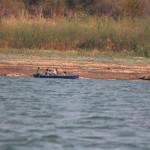 Einheimische Fischer auf dem Kariba Lake