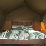 Auch im Zelt durfte der Luxus nicht fehlen.