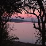 Himmel bei Sonnenuntergang am Karibalake