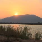 Erster Sonnenuntergang am Sambesi