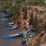 Notlandung, da ein Kanu drohte zu sinken