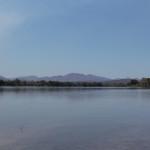 Landschaft durch wir mit unseren Kanus gleiten