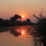 Letzter Sonnenuntergang der Safari