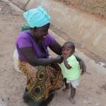 Thomas mit seiner Mutter in Lusaka