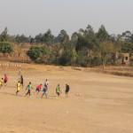 Fußballtraining unter ganz anderen Bedingungen