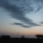 Schöner Himmel über Tansania