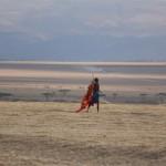Masai auf dem Weg nach Hause