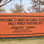 Mosa Oa Tunya, wie die Falls von den Einheimischen genannt werden.