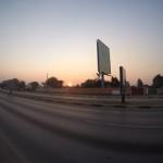 Sonnenuntergang in Lusaka