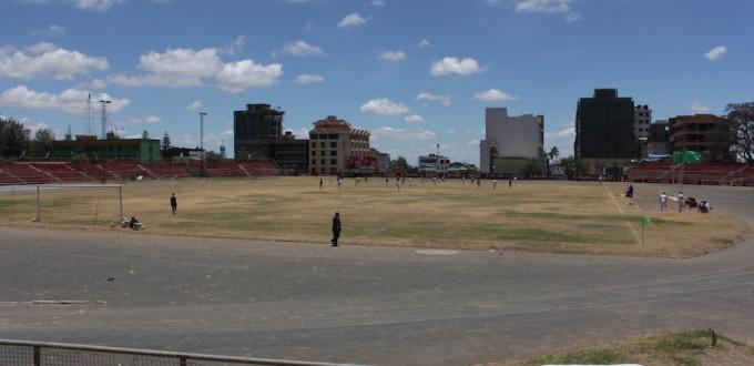 Blick auf Arusha aus dem Stadion