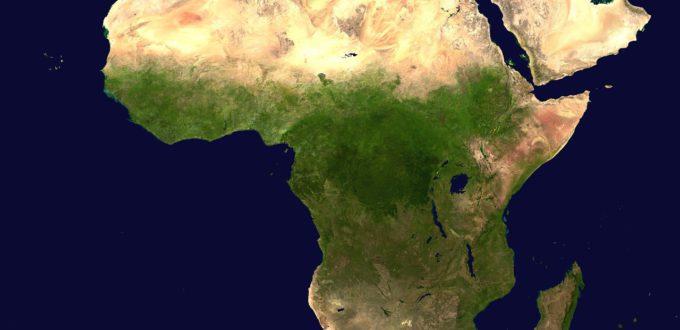 Karte Afrika Luftaufnahme