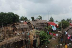 Blick auf Dorf der Einheimischen von San Blas