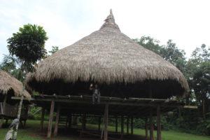 Schlafhütte im Kuna-Dorf